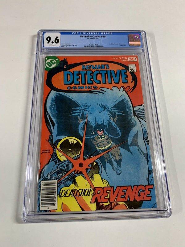 Detective Comics 474 Cgc 9.6 White Pages 2052519020 Batman 1st Deadshot Dc Comic