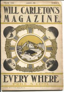 Will Carleton's Magazine 8/1906-over 100 years old-unique stories & ads-VG