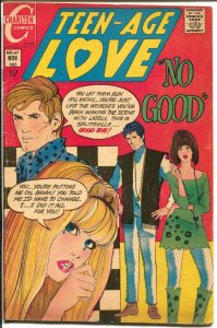 Teen-Age Love #67 1969-Charlton-hippie cover-surfboard-Jonnie Love-Corvette-VG