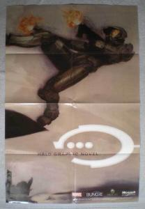 HALO GRAPHIC NOVEL Promo Poster, 24x36, 2006, Unused, more Promos in store