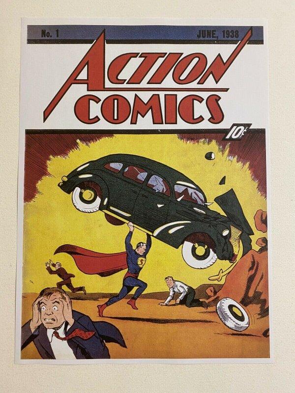 Action Comics #1 Superman DC Comics poster by Joe Shuster
