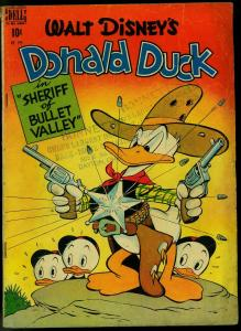 Donald Duck in Sheriff of Bullet Valley- Four Color Comics #199 1948 VG