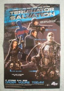 TERMINATOR SALVATION Promo Poster, 11x17, 2009, Unused, more Promos in store