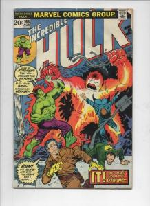 HULK #166, VG-, Incredible, Bruce Banner,  ZzzaX, 1968 1973, more in store