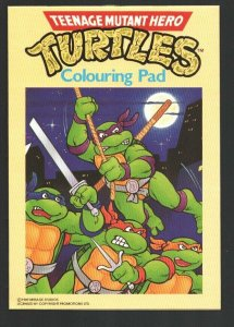 Teenage Mutant Hero Turtles Colouring Pad  1989-printed in Italy-rare-VF