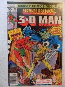 MARVEL PREMIERE # 36 THREE-D MAN ACTION ADVENTURE