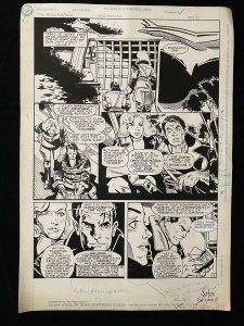 Blackhawk #12 Page 2 Original Art 1990 Tom Artis Lady Blackhawk!