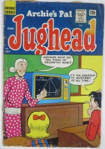Archie's Pal, JUGHEAD #121 (Archie, 6/1965) G Jug in school! Grundy on cover!