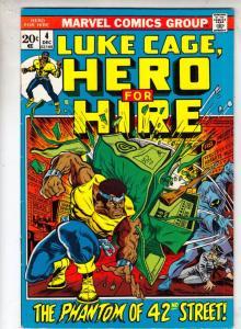 Luke Cage Hero for Hire #4 (Dec-72) VF/NM+ High-Grade Luke Cage