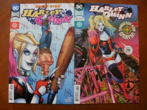 2 DC Comics HARLEY QUINN Comic Book: #39 (Angry Bird) & #43 (Targeted For Death)