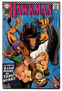 HAWKMAN #20 1967-1st appearance of LION-MANE-DC comic book