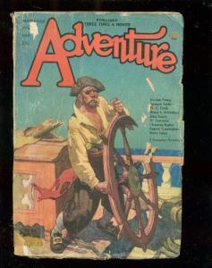 ADVENTURE PULP-11/10/23-W C TUTTLE-PIRATE COVER-RARE!! fair/good FR/G