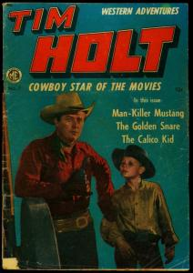Tim Holt #7 1949- Photo cover- ME Golden Age Western G/VG
