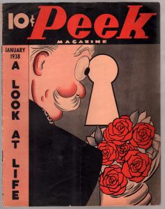 Peek #1 1/1938-1st issue-Charlie McCarthy-showgirls-pin-ups-swimsuits-VG