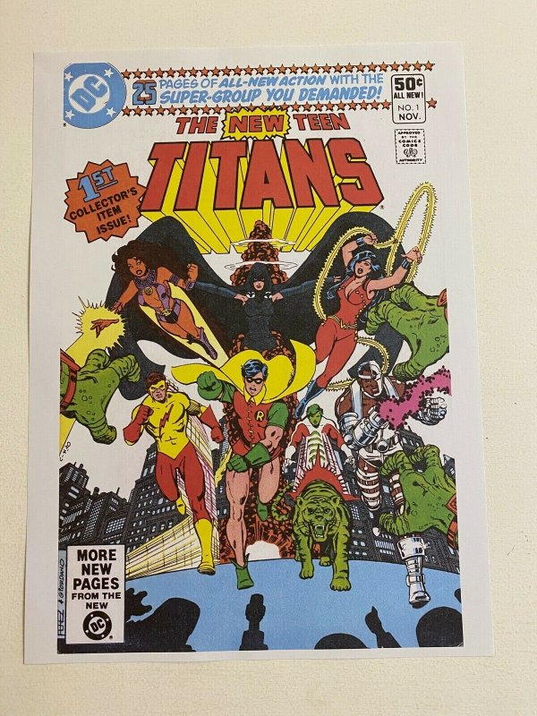 The New Teen Titans #1 DC Comics poster by George Perez