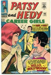 PATSY AND HEDY #105 1966-MARVEL-HOLLYWOOD ISSUE--RARE FN