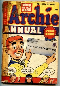 ARCHIE ANNUAL #1-1950-BETTY-VERONICA-Over 100 PAGES-Scarce issue!