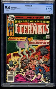 Eternals #2 CBCS NM 9.4 White Pages
