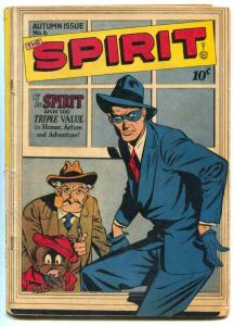 Spirit #6 1946- LOU FINE- Golden Age comic VG