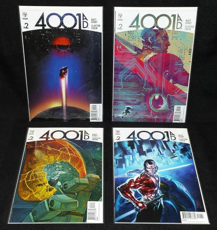 4001 AD #2 Set of 4 Covers A B C D (Valiant, 2016) VF/NM
