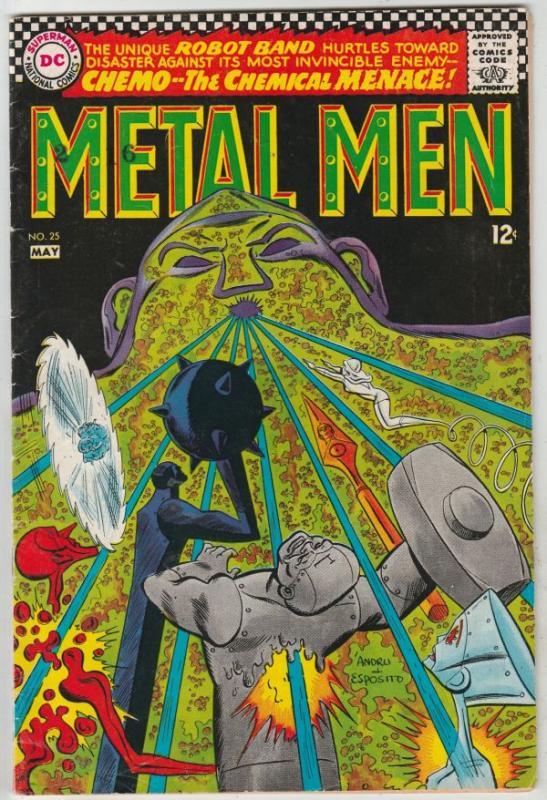 Metal Men #25 (May-67) FN/VF Mid-High-Grade Metal Men (Led, Tina, Tin, Gold, ...