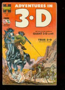 ADVENTURES IN 3-D #2 1954-BOB POWELL ART-MOON TRAVEL-   VG