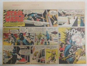 Star Wars Sunday Page #42 by Russ Manning from 12/23/1979 Large Half Page Size!