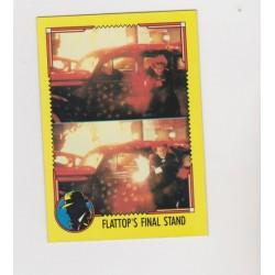 1990 Topps DICK TRACY-FLATTOP'S FINAL STAND #81