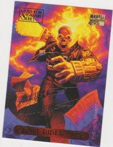 1994 Marvel Masterpieces Gold Foil Signature Series #43 Ghost Rider 2099/Hilbran