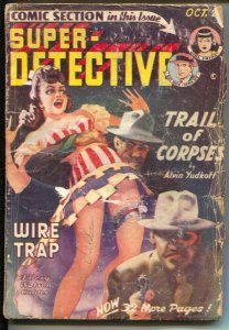 Super-Detective 10/1949-Trojan- Good Girl Art-Joseph Sokoli-comic stories-G