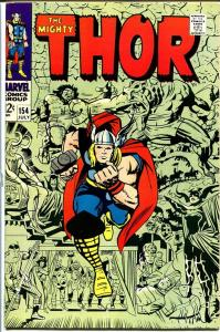 THOR #154-1968-JACK KIRBY-MARVEL-SILVER AGE VF