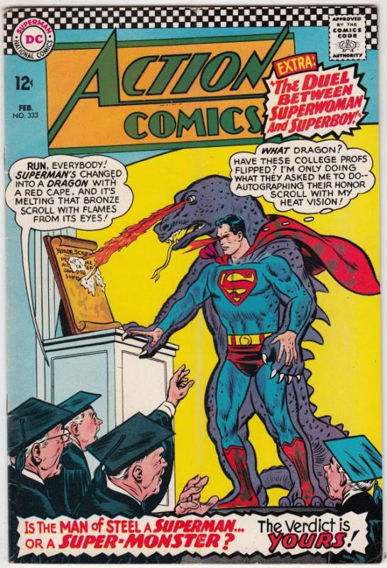 Action Comics #333 (Feb-66) FN/VF+ High-Grade Superman