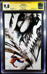Venom #3 CGC 9.8 SS by Tyler Kirkham  Sketch - 1st Knull, The Symbiote God