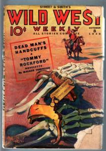 WILD WEST WEEKLY 10/8/1938-WESTERN PULP-TOMMY ROCKFORD G
