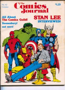 Comics Journal #42 1978-Fantagraphics-Stan Lee cover & interview-Comic Creato...