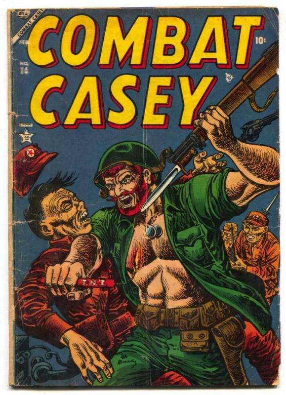 Combat Casey #14 1954- Atlas - JOE MANEELY COVEr g/vg