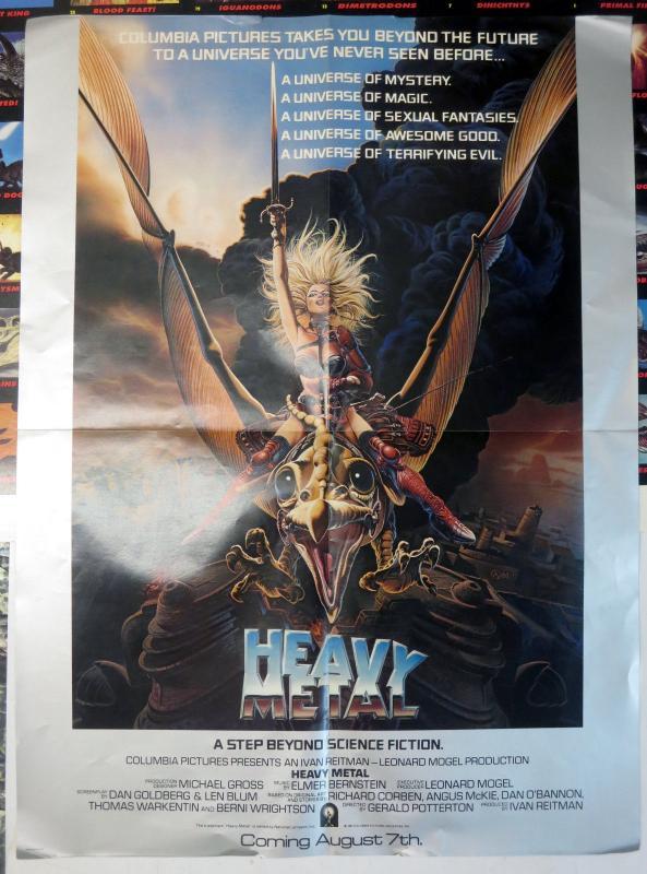 Heavy Metal 1981 Movie Promo Poster 24 x18 Chris Achilleos Taarna Dragon Space
