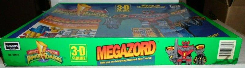 Mighty Morphin Power Rangers Megazord 3 - D Interlocking Figure RoseArt