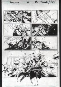 UNCANNY X-MEN #16-ORIGINAL ART-PG 18-CHRIS BACHALO-MARVEL