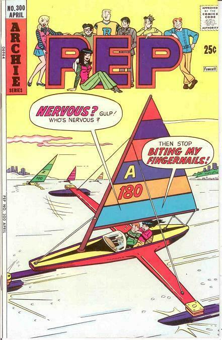 PEP (1940-1987)300 VF-NM    April 1975 COMICS BOOK