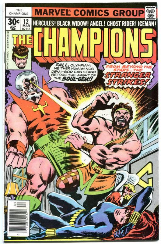 CHAMPIONS #12, FN, Hercules, Black Widow, Ghost Rider, 1976, more in store