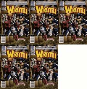 Wrath #2 Newsstand Covers (1994) - Malibu Comics - 5 Comics