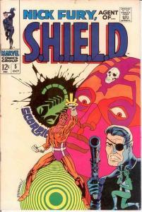 NICK FURY AGENT OF SHIELD 5 F+ STERANKO   Oct. 1968 COMICS BOOK