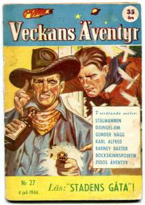 Veckans Aventyr #27 1944-Swedish comic Superman Jungle Jim G-