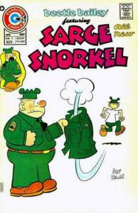 Beetle Bailey Featuring Sarge Snorkel #5 FN; Charlton | save on shipping - detai