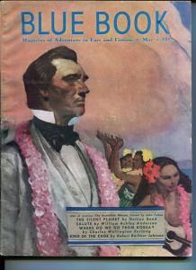 BLUE BOOK PULP-MAY 1951-VG/FN-FULTON COVER-GIBSON-JOHNSON-FURLONG-NELSON VG/FN