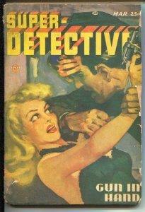 Super-Detective 3/1947-Trojan- Good Girl Art-Joseph Sokoli-pulp crime-G