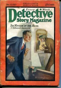 DETECTIVE STORY MAGAZINE-DEC 12 1925-LEONARD-COUGHLIN-WALLACE-good/vg G/VG