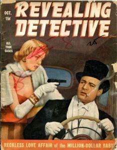 REVEALING DETECTIVE-OCT/1948-LOVE AFFAIRS-MILLION DOLLAR BABY-CON MEN-CARN FR/G