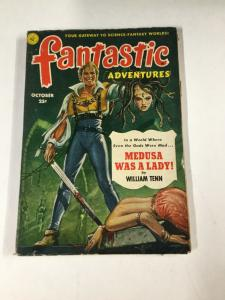 Fantastic Adventures October 1951 Vintage Pulp Magazine Fine ~ Medusa